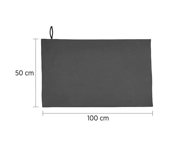 VELVET 50, mikrofiber peškir, tamno sivi