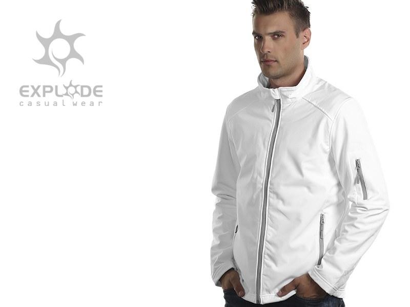 pro wear men softshell jakna bela makart