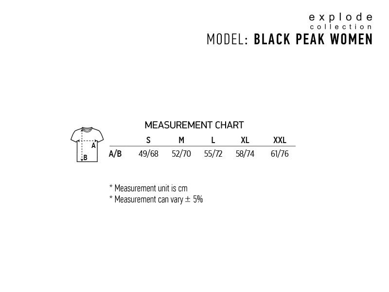 black peak women zenska softsel jakna sa kapuljacom crna makart