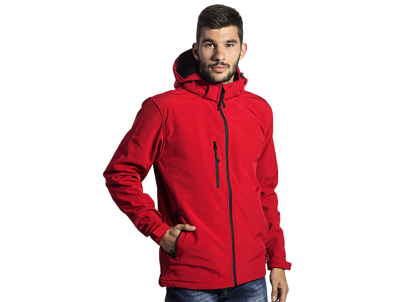 protect men s softsel jakna sa kapuljacom crvena makart