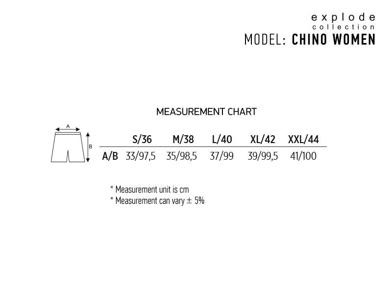 CHINO WOMEN, ženske pantalone, sive