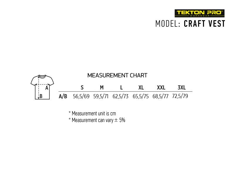 craft vest radni prsluk plavi makart