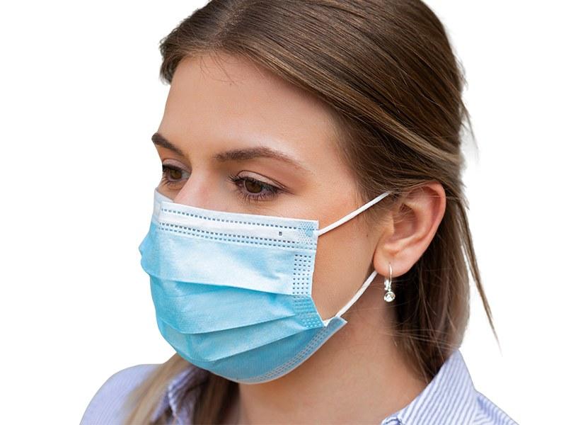 pro safe 50 zastitna maska za jednokratnu upotrebu svetlo plava makart