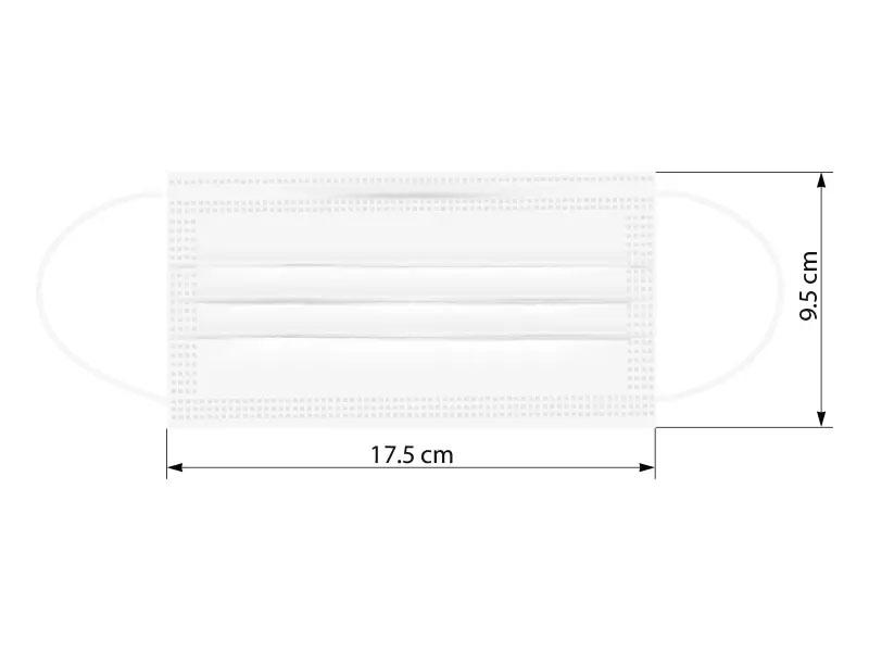 DFM SINGLE PACK, zaštitna maska za jednokratnu upotrebu u pojedinačnom pakovanju, bela